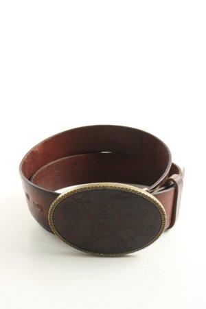 Diesel Ceinture en cuir brun-bronze style d'affaires