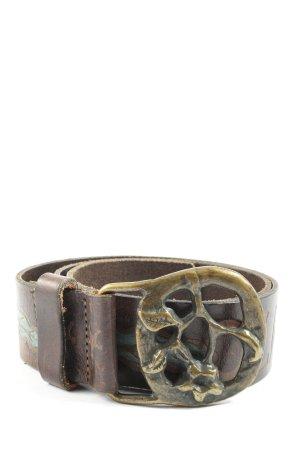 Diesel Ledergürtel bronzefarben Casual-Look