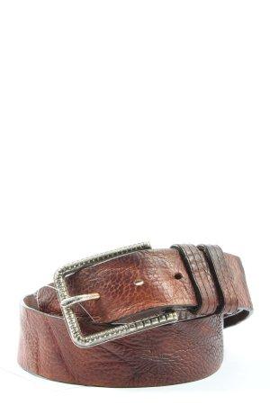 Diesel Cintura di pelle marrone motivo animale stile casual