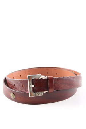 Diesel Cintura di pelle marrone stile casual