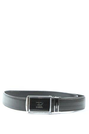 Diesel Cintura di pelle nero stile casual