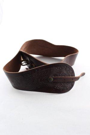 Diesel Cinturón de cuero marrón look casual