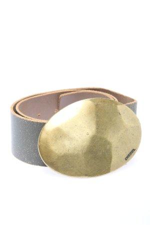 Diesel Ledergürtel braun-goldfarben Casual-Look