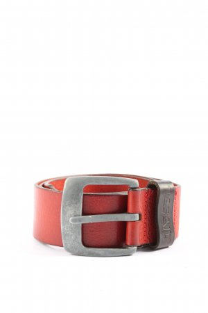 Diesel Cintura di pelle rosso stile professionale