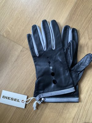 Diesel Leather Gloves multicolored leather
