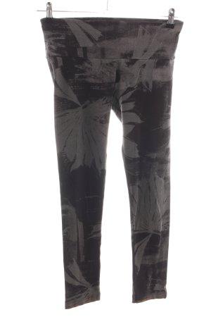 Diesel Leggings schwarz-hellgrau abstraktes Muster Casual-Look