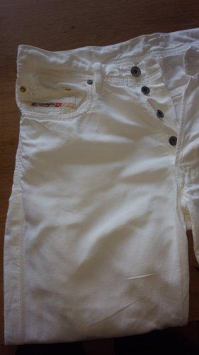Diesel Leinen Jeans weiß Gr.36 (W30)