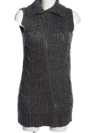 Diesel Cardigan long gris clair torsades style décontracté
