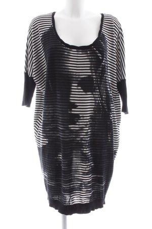 Diesel Longshirt schwarz-weiß Motivdruck Casual-Look
