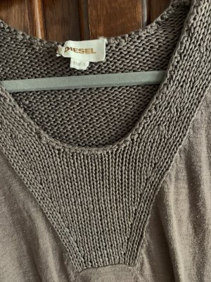Diesel Industry Sweater Dress taupe-green grey