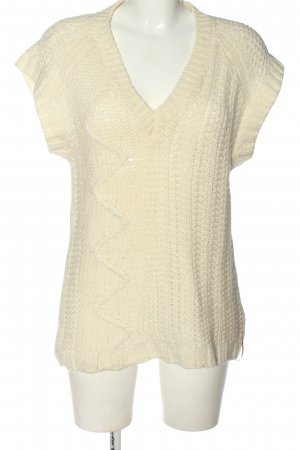 Diesel Long Knitted Vest cream cable stitch casual look
