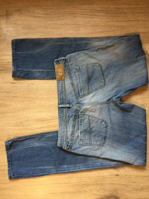 Diesel Jeans coupe-droite bleu coton