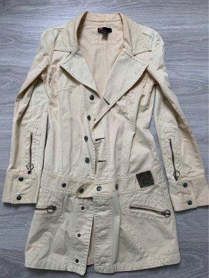 Diesel Mantel Long Blazer beige creme Größe S