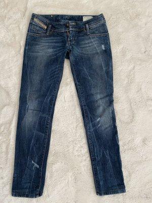 Diesel Jeans vita bassa blu scuro