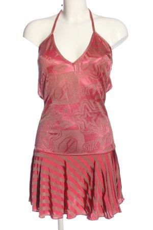 Diesel Minikleid wollweiß-pink grafisches Muster Casual-Look