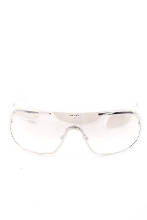 Diesel ovale Sonnenbrille hellgrau Casual-Look