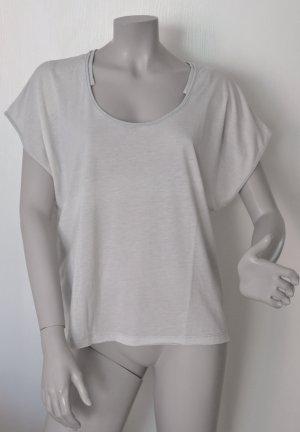 Diesel Oversize Shirt boxy fit Polyester Baumwolle grau gestreift Gr. L