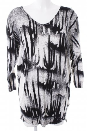 Diesel Oversized Pullover wollweiß abstraktes Muster Casual-Look