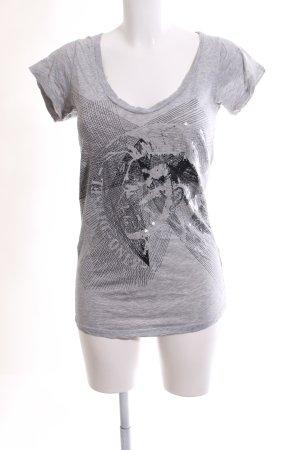 Diesel Shirt met print zwart-lichtgrijs gestippeld casual uitstraling