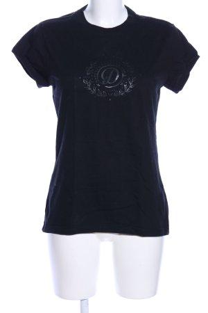 Diesel Print-Shirt schwarz Motivdruck Casual-Look