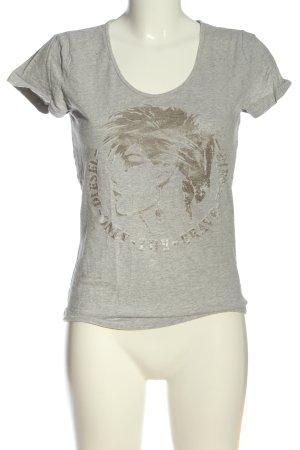 Diesel Print-Shirt hellgrau Motivdruck Casual-Look