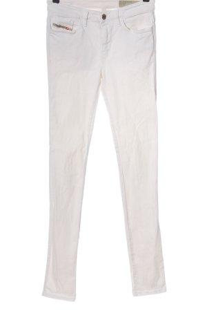 Diesel Jeansy rurki biały W stylu casual