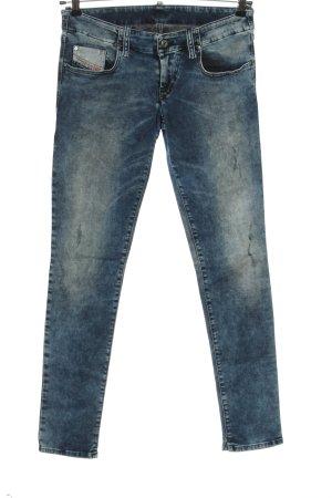 Diesel Jeans cigarette bleu style décontracté
