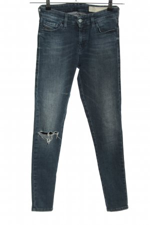 Diesel Jeans a sigaretta nero-bianco sporco stile casual