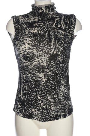 Diesel Koszulka z golfem czarny-w kolorze białej wełny Na całej powierzchni