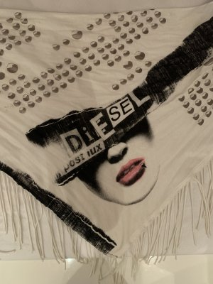 Diesel Fringed Scarf multicolored