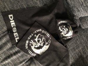 Diesel Écharpe en tricot noir-argenté
