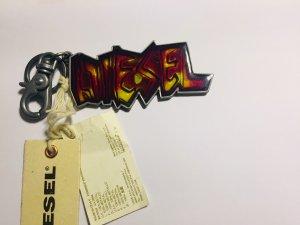 Diesel Sleutelhanger neongeel-karmijn