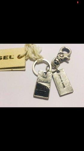 Diesel Portachiavi nero-argento Metallo