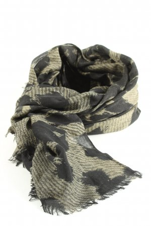 Diesel Shoulder Scarf light grey-black allover print casual look