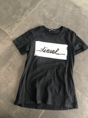Diesel Shirt Neu mit Wende Pailletten