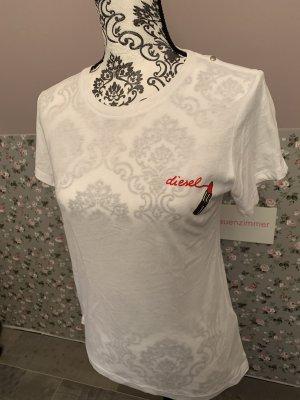 Diesel Shirt Weiß Lippenstift Gr. S