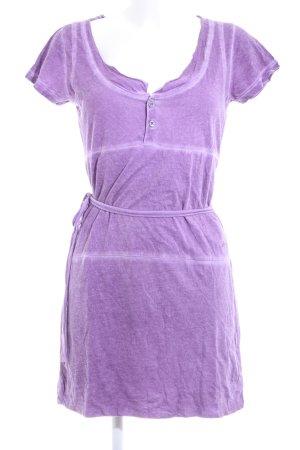 Diesel Shirtkleid lila Casual-Look