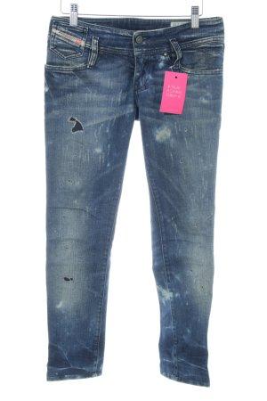 Diesel Skinny Jeans blau Street-Fashion-Look