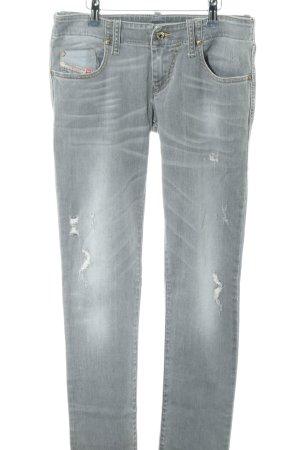 Diesel Skinny Jeans hellgrau Street-Fashion-Look