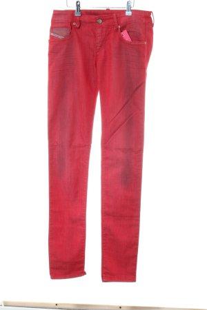 Diesel Skinny Jeans rot Casual-Look