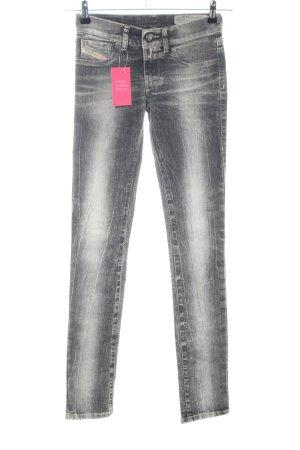 Diesel Skinny Jeans hellgrau-weiß Casual-Look