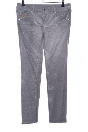 Diesel Skinny Jeans hellgrau Schriftzug gestickt Casual-Look