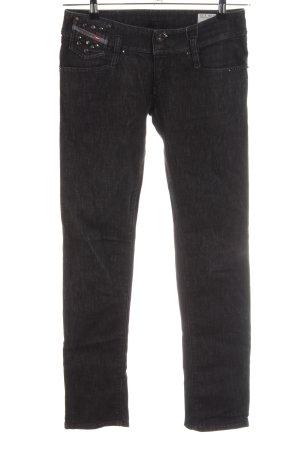 Diesel Skinny Jeans schwarz meliert Casual-Look