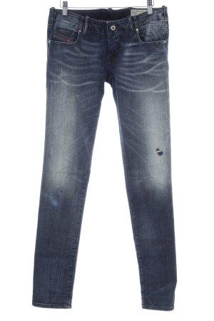 Diesel Skinny Jeans dunkelblau Vintage-Look