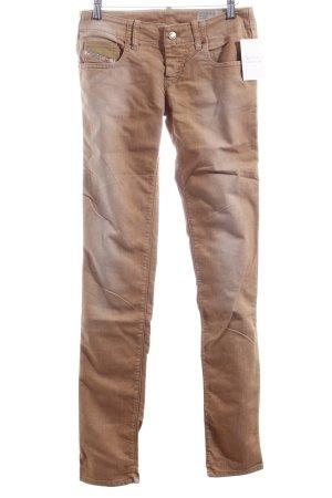 Diesel Skinny Jeans hellbraun Casual-Look