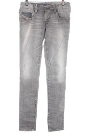 Diesel Skinny Jeans hellgrau Jeans-Optik