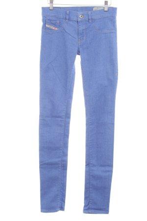 Diesel Skinny Jeans kornblumenblau-sandbraun Casual-Look