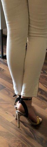 Diesel Jeans 7/8 blanc-argenté coton