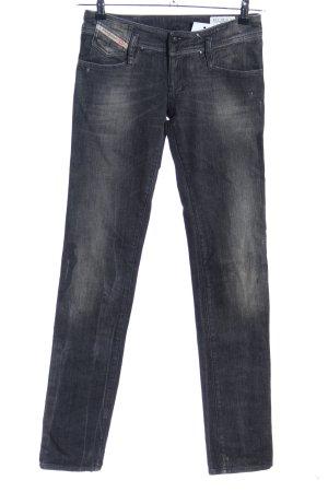 Diesel Slim Jeans schwarz-hellgrau Casual-Look