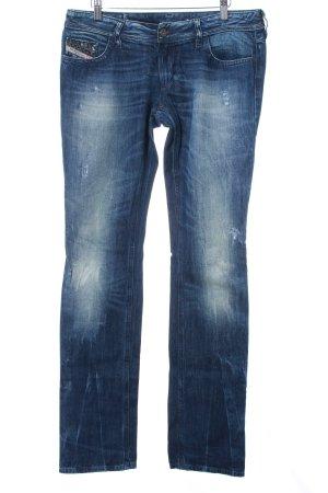 Diesel Slim Jeans blau Used-Optik